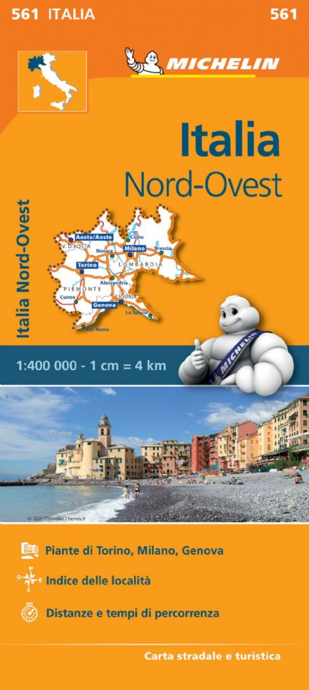 561 Italy North West - Michelin Regional Map